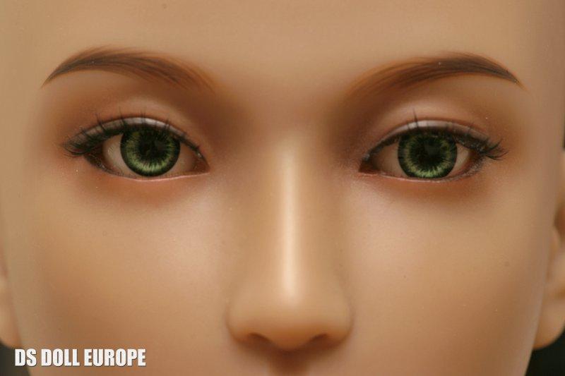 Grüne Augen und Hautton Brown - Doll Sweet Emily Kopf